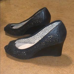Wedge peep toe heels - see offer in description